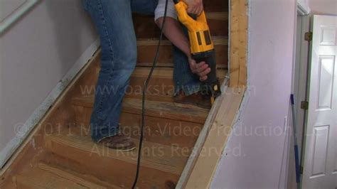 stair treads how to remove nosing from stairs to install oak wood stair