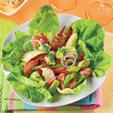 cuisine recettes pratiques salade de homard pommes et avocats recettes cuisine