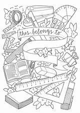 Colouring Cuadernos Caratulas Sheets Reviseordie Revise Escolares Rosen Carátulas Mentve sketch template