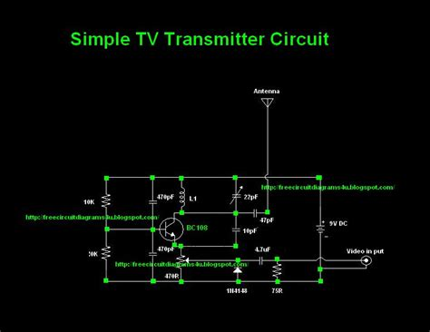 simple tv transmitter circuit diagram vhf electronic