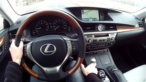 lexus es  wr tv pov test drive youtube