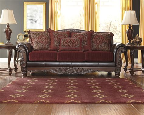 fabric sofa with wood trim sofa sofas living room furniture products style