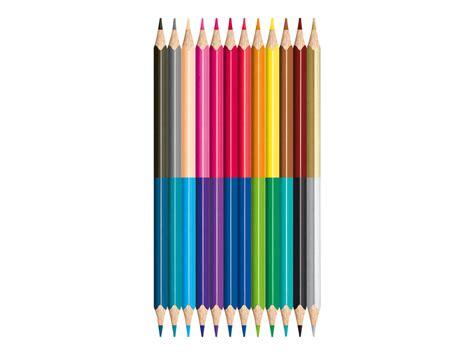 mobilier de bureau 16 maped color 39 peps duo 12 crayons bicolores crayons de couleur