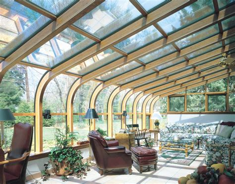 sunroom windows curved glass roof sunroom or solarium with wood interior