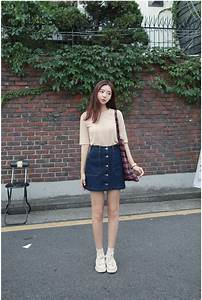 Lulu Pocket Denim Skirt | Korean Fashion | STYLE | CLOTHES | Pinterest | Korean fashion Denim ...