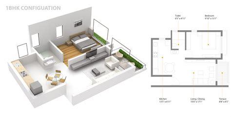 Home Design 1 Bhk : 1 Bhk Apartment Kothrud