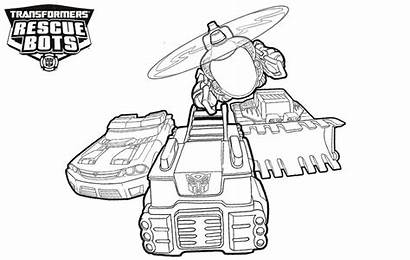 Bots Rescue Coloring Pages Transformers Vehicles Printable