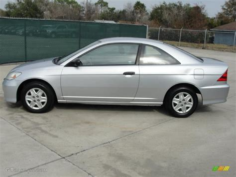 satin silver metallic 2005 honda civic value package coupe