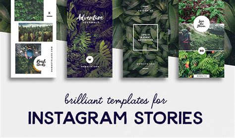 brilliant instagram story templates  brands
