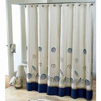 bathroom shower curtains Wonderful White Fabric And Blue Base Extra Long Shower ...
