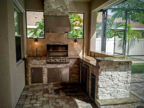Outdoor Kitchen Backsplash by Pictures Of Outdoor Kitchen Backsplashes Granite For