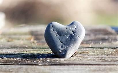 Heart Stone Human Close Rock Water Macro