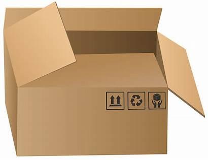 Clip Packaging Transparent Clipart Open Cardboard Link