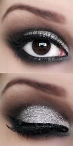 Passo a passo maquiagem preta e prata com glitter 3D ...