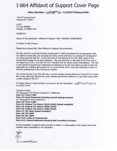 Cover Letter For Affidavit Of Support i864 affidavit of support cover letter school essay topics