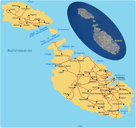 map malta travel europe