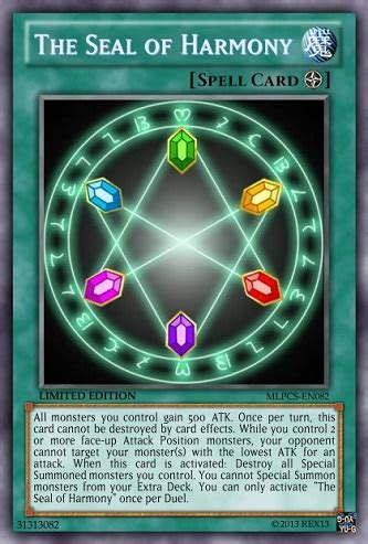 yugioh seal of orichalcos deck 2014 the seal of harmony mlp yu gi oh card by poppixierex