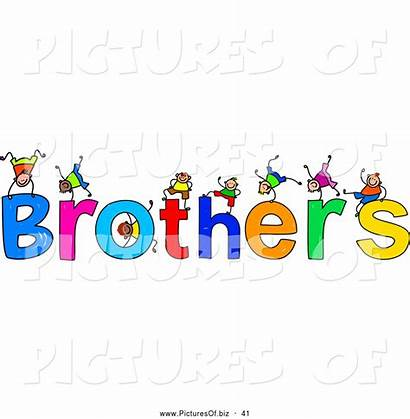Brothers Clipart Text Word Children Brother Prawny