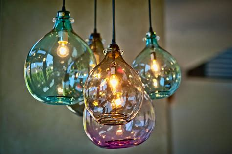blown glass pendant lights baby exit