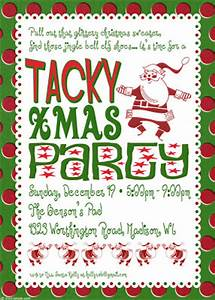 bnute productions Tacky Christmas Party Invitations
