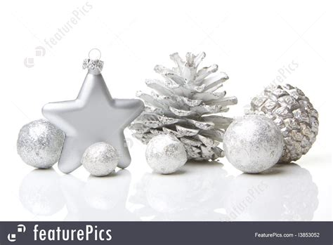 white christmas ornaments picture