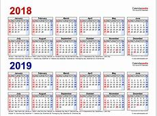 Printable Academic Calendars 20182019 Printable Monthly