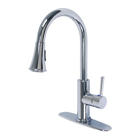 ?Euro Collection? Single Handle Kitchen Faucet With Pull