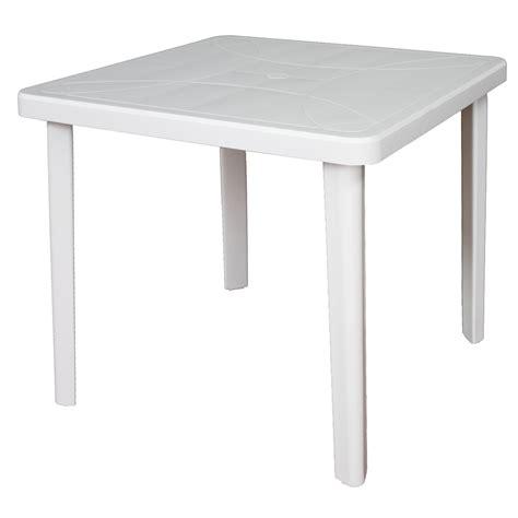 table carree de jardin nettuno blanc      cm nettunob achat vente table de