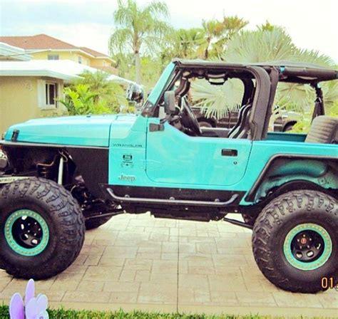 aqua jeep wrangler cool color rides pinterest jeeps blue jeep and