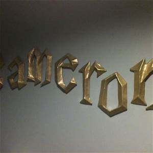 harry potter 3d wall letters by from papermachesculptures With harry potter 3d letters