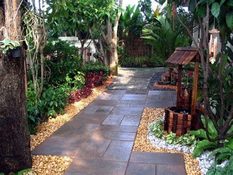 side yard rock landscaping ideas gardening