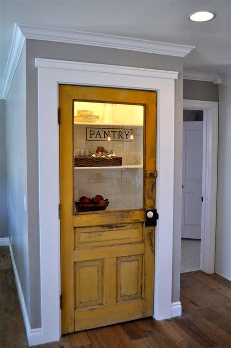 Pantry Door by Vintage Farmhouse Door Repurposed As Pantry Door By