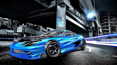 Beautiful Blue Car Wallpaper by 3d Car Blue Wallpaper All Hd Wallpapers