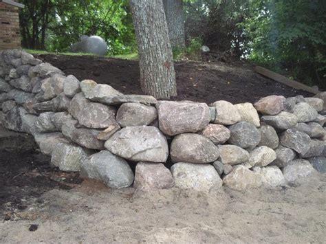 boulder wall boulder walls rasset landscaping