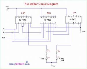 Bcd Adder Circuit Diagram