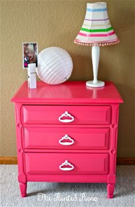 Pink Nightstand by The Painted Piano Furniture On Painted Pianos