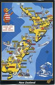 1960 U0026 39 S Pictorial Map Of Hibiscus Coast  Auckland   Newzealand