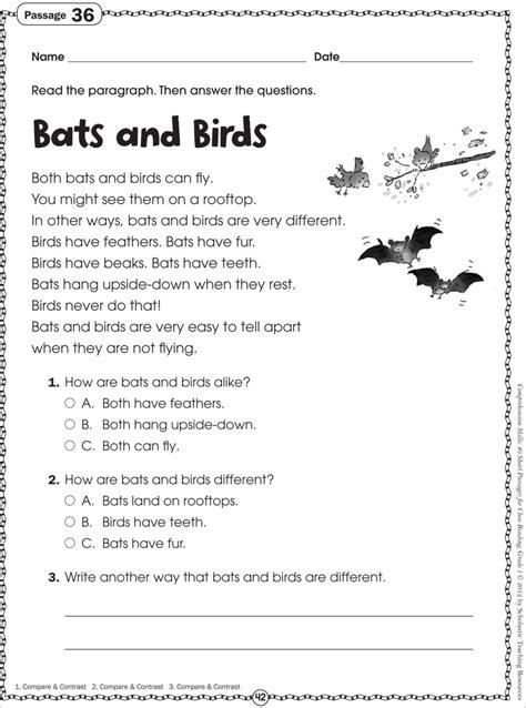 kindergarten reading comprehension worksheets free photo