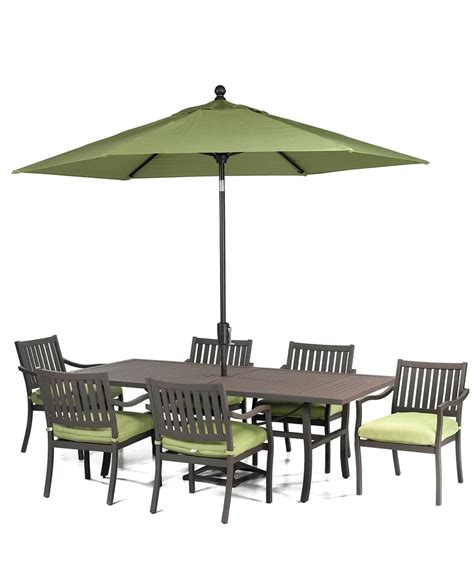 madison outdoor 7 piece set 84 quot x 42 quot dining table and 6