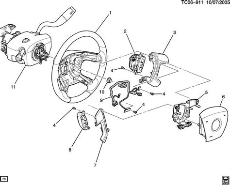 buick enclave steering wheel wire harness