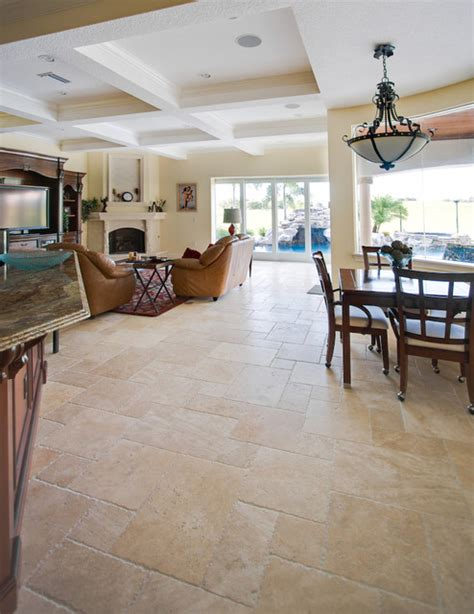 travertine tile living room ivory cream french pattern travertine tiles contemporary living room ta by stone mart