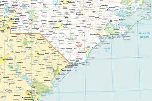 North Carolina Coast NC Map
