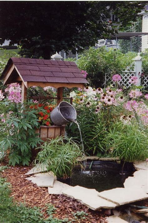 wishing well fountain a peaceful garden decorations