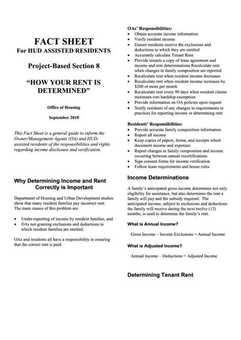 fact sheet hud printable