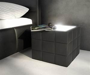 Nachttisch Für Boxspringbett Anthrazit : nachttisch nuncia 41x41cm schwarz beleuchtung steppnaht ~ Michelbontemps.com Haus und Dekorationen