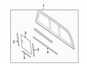 Ford F-150 Cab Sliding Glass Weatherstrip