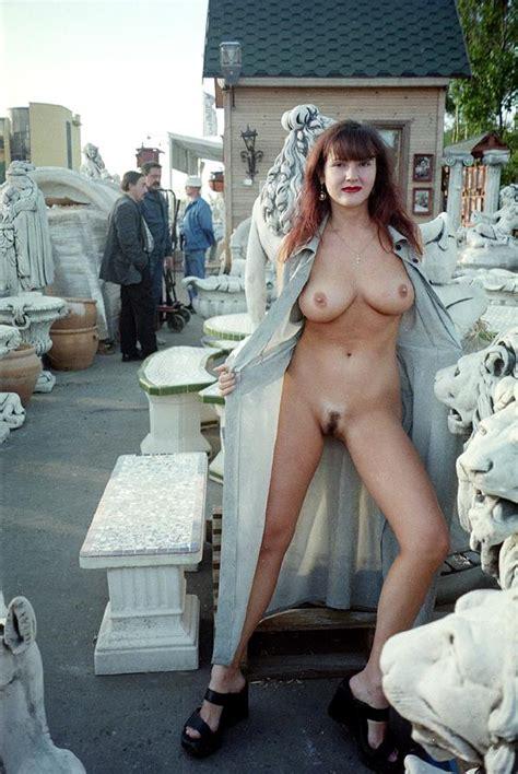 Retro Photos Of Busty Milf Posing At Garden Market