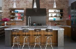 restoration hardware kitchen faucet exposed brick walls transitional kitchen thompson