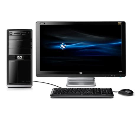desk top computers hp pavilion elite hpe 250f desktop pc black
