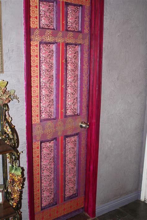 decoupaged door wall decor art decorating